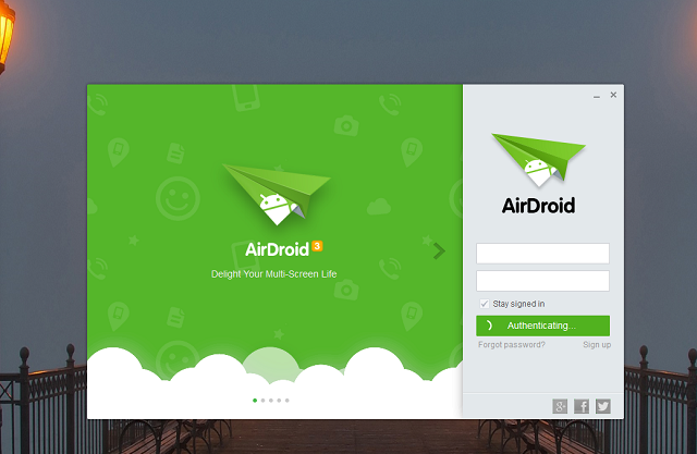 Signing_to_airdroid_account